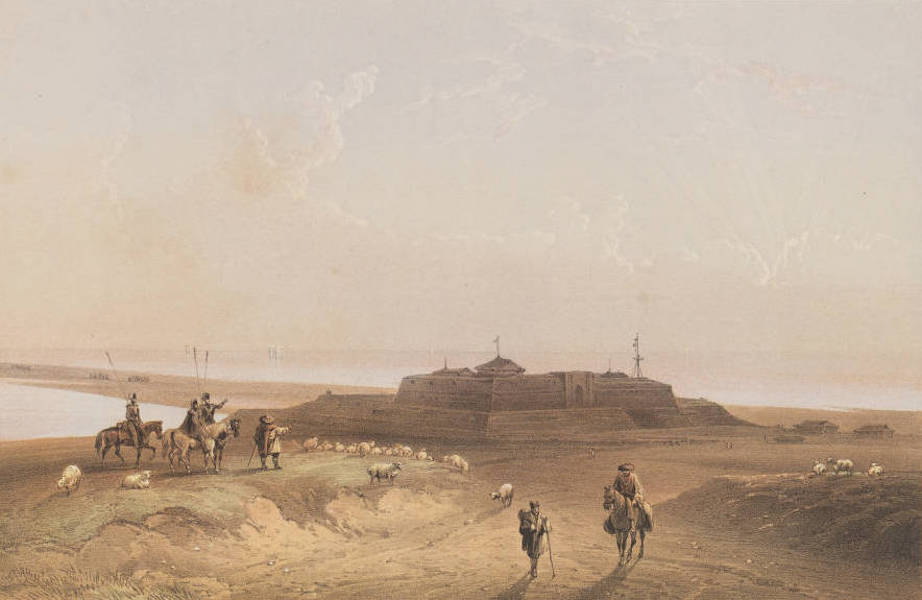 The Beautiful Scenery and Chief Places of Interest throughout the Crimea - Fort Arabat (1856)