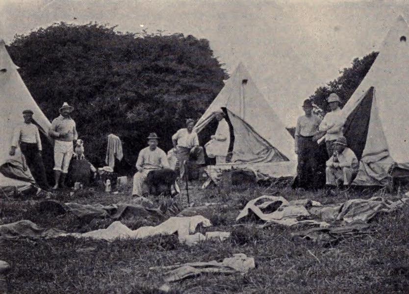 The Book of Buried Treasure - Treasure-seekers' Camp at Cape Vidal on African Coast (1911)