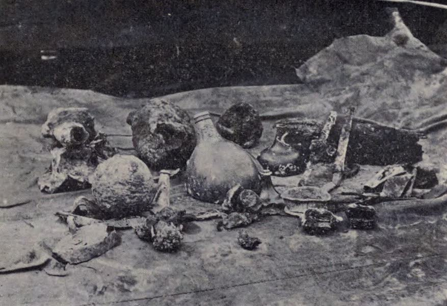 The Book of Buried Treasure - Scabbards, flasks, cannon balls, and small objects recovered from the sunken Armada galleon (1911)