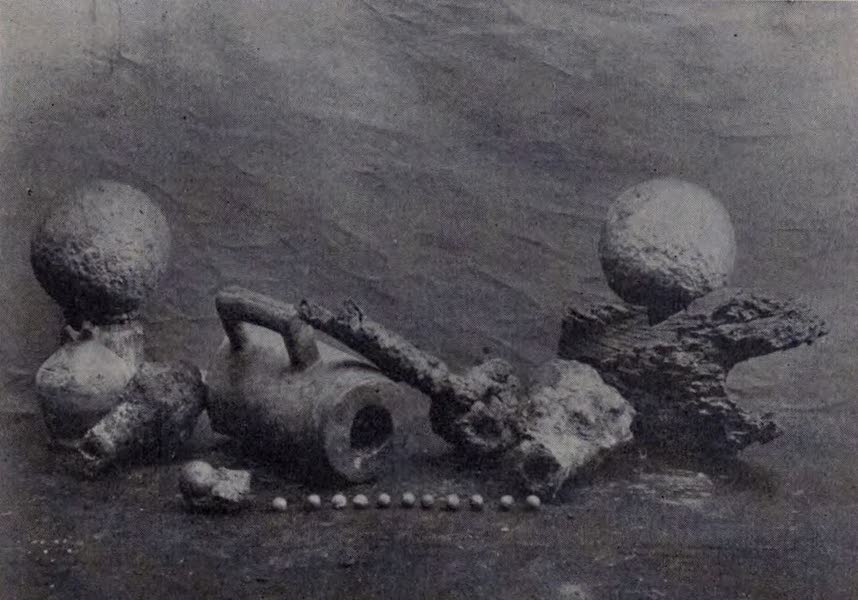 The Book of Buried Treasure - Stone cannon balls and breech-block of a breech-loading gun fished up from the wreck of the Florencia galleon (1911)