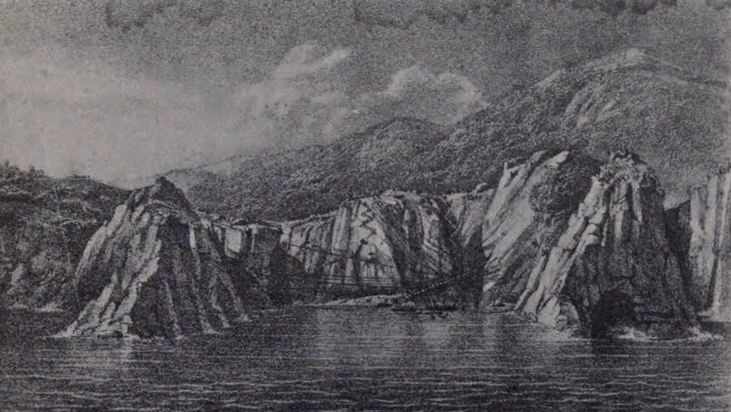 The Book of Buried Treasure - Thetis Cove during the storm which wrecked the salvage equipment (1911)