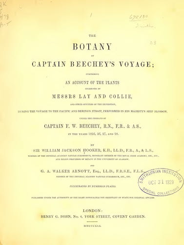 Biodiversity Heritage Library - The Botany of Captain Beechey's Voyage