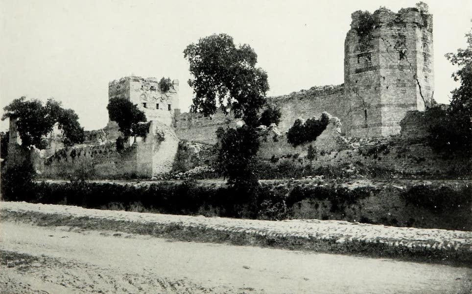 The Byzantine Empire - The Triple Wall of Constantinople from outside (1910)