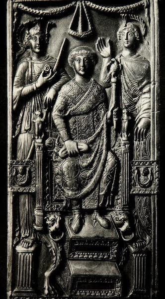 The Byzantine Empire - Part of Ivory Diptych of a Roman Consul, A.D. 518 (1910)