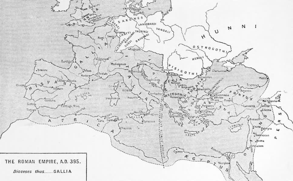 The Byzantine Empire - The Roman Empire, A.D. 395 (1910)