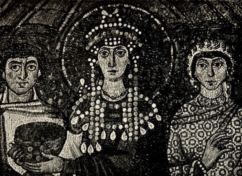 The Byzantine Empire - Church of San Vitale, Ravenna, Mosaic of Theodora (1910)