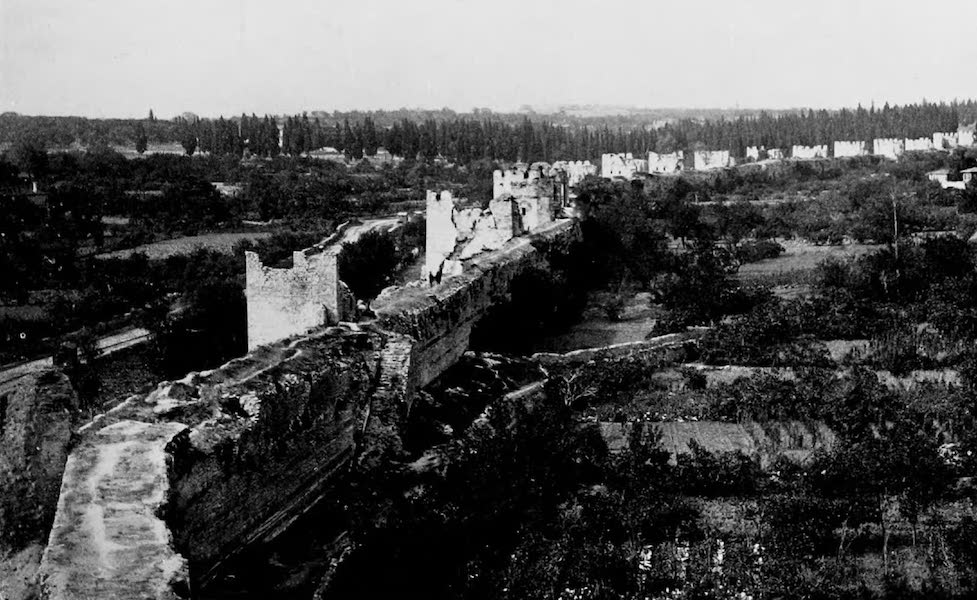 The Byzantine Empire - The Walls of Constantinople from the Seven Towers (1910)
