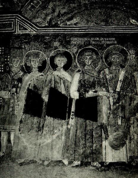 The Byzantine Empire - San Vitale, Mosaic of Constantine V. (1910)