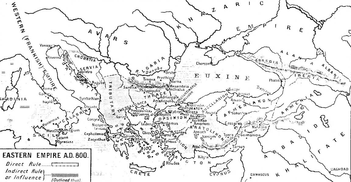 The Byzantine Empire - Eastern Empire, A.D. 800 (1910)