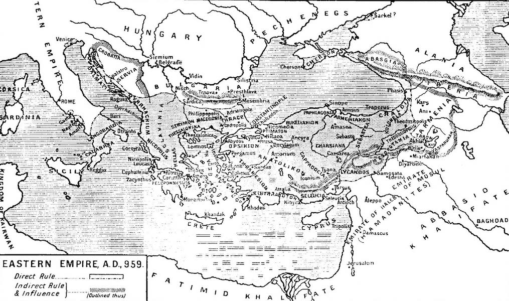 The Byzantine Empire - Eastern Empire, A.D. 959 (1910)