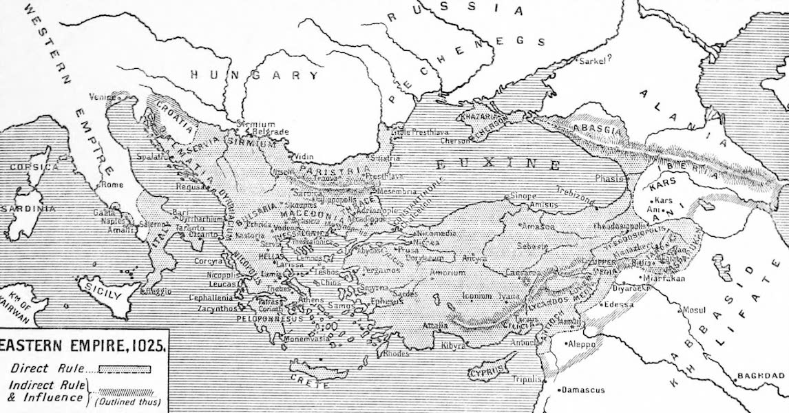 The Byzantine Empire - Eastern Empire, A.D. 1025 (1910)