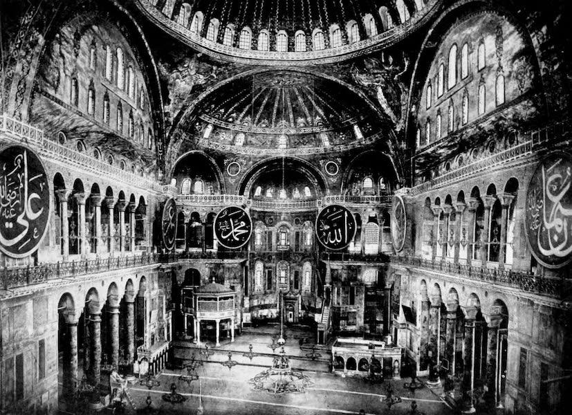 The Byzantine Empire - Sancta Sophia (Interior), Constantinople (1910)