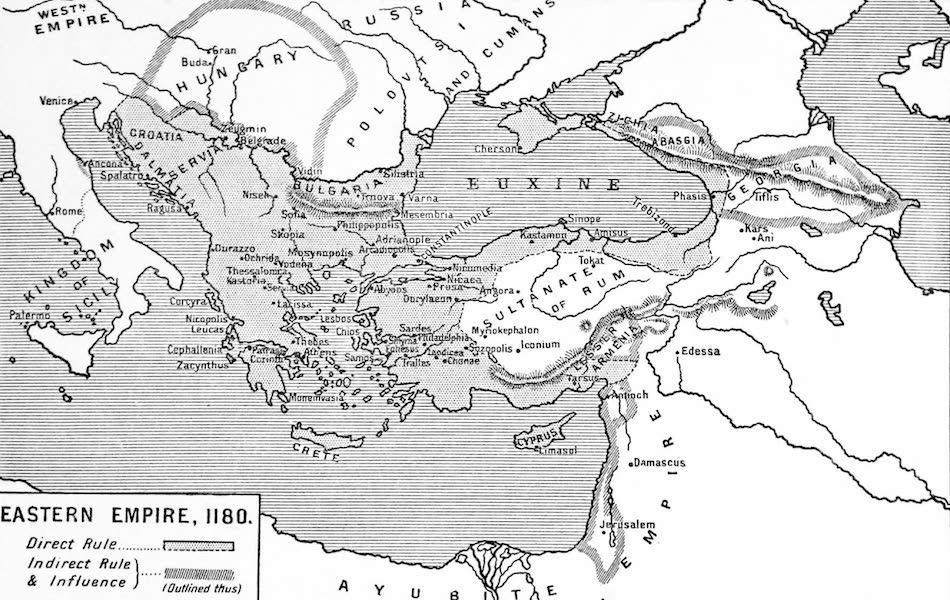 The Byzantine Empire - Eastern Empire, A.D. 1180 (1910)