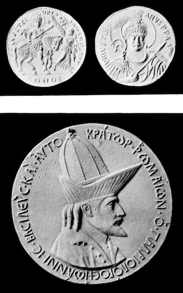 The Byzantine Empire - Medallions of Justinian I. and John VII. (1910)