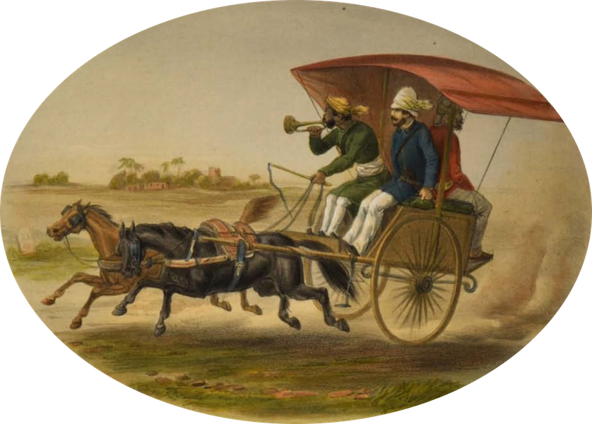 The Campaign in India - Officers Joining the Force (1859)