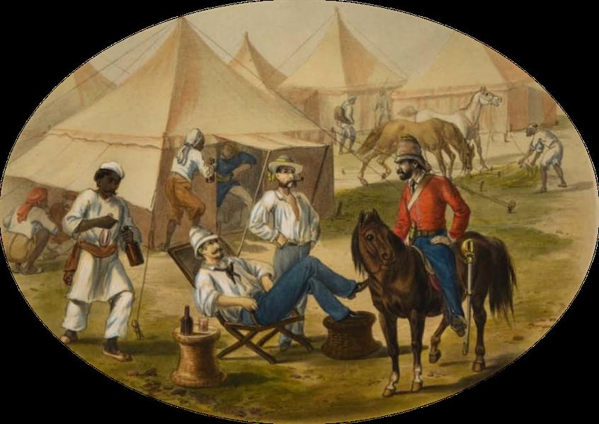 The Campaign in India - A Scene in Camp (1859)
