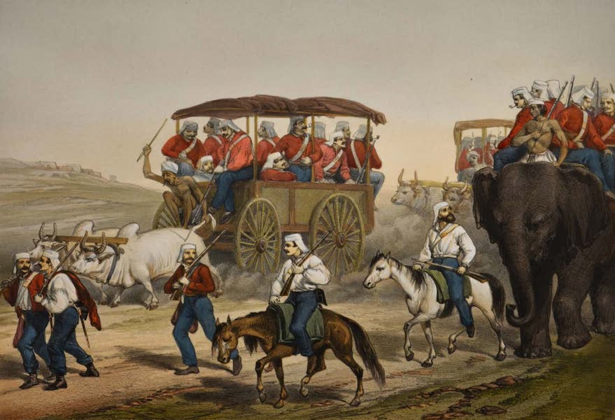 The Campaign in India - Troops Hastening to Umballa (1859)