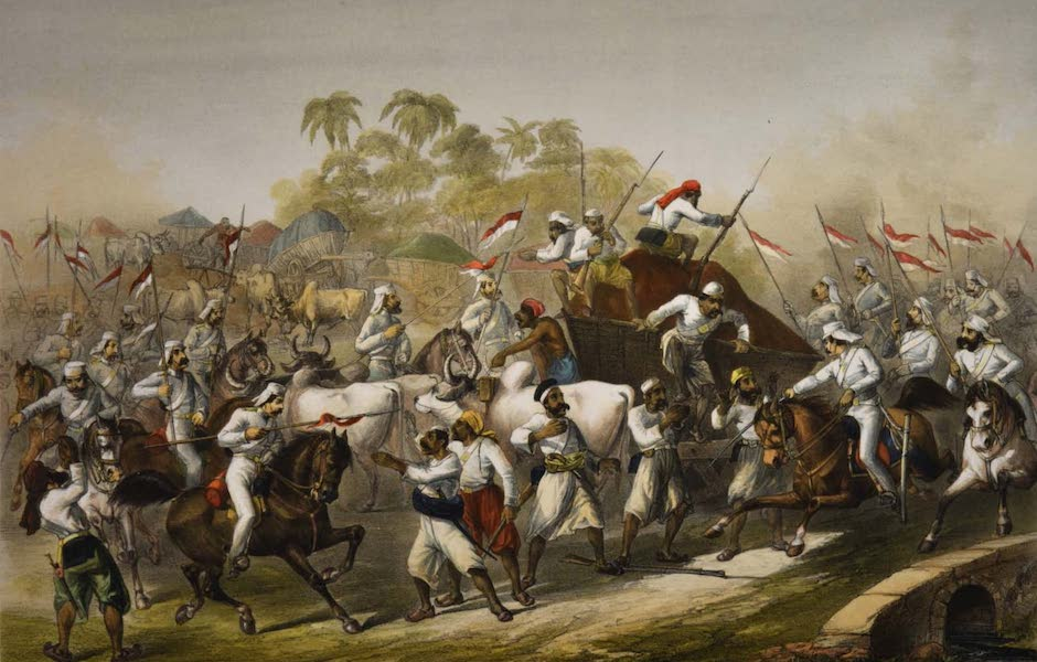 The Campaign in India - Mutineers Surprised by Her Majesty's 9th Lancers (1859)