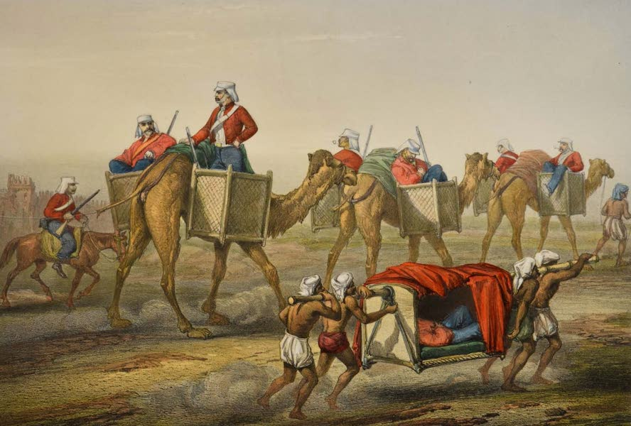 The Campaign in India - Reinforcements Proceeding to Delhi  (1859)