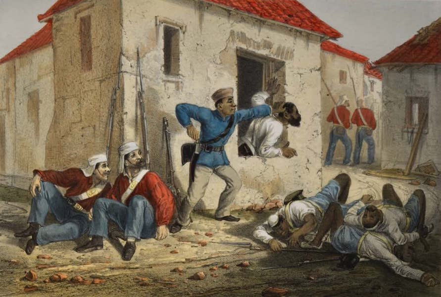 The Campaign in India - Incident in the Subzee Mundee (1859)