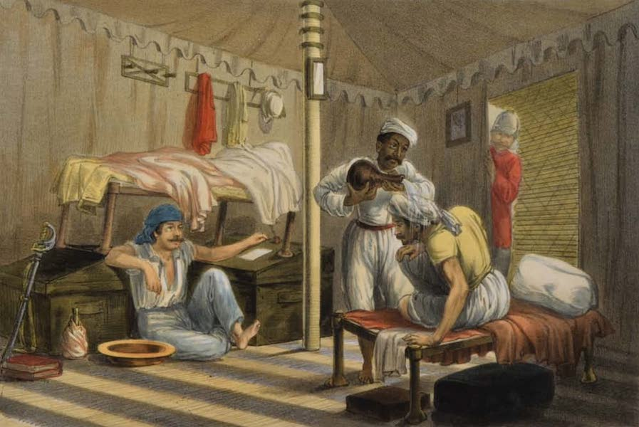 The Campaign in India - Interior of a Tent (1859)