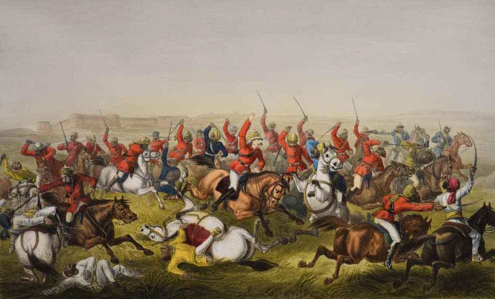 The Campaign in India - Hodson's Horse at Rhotuck (1859)