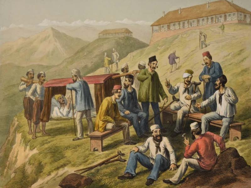 The Campaign in India - Wounded Men at Dugshai (1859)