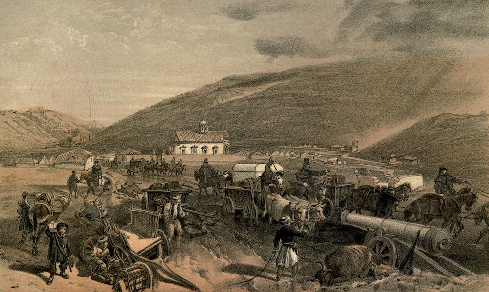 The Campaign in the Crimea [Series I] - Commissariat Difficulties. The Road from Balaklava to Sebastopol at Kadikoi, during the wet weather (1855)