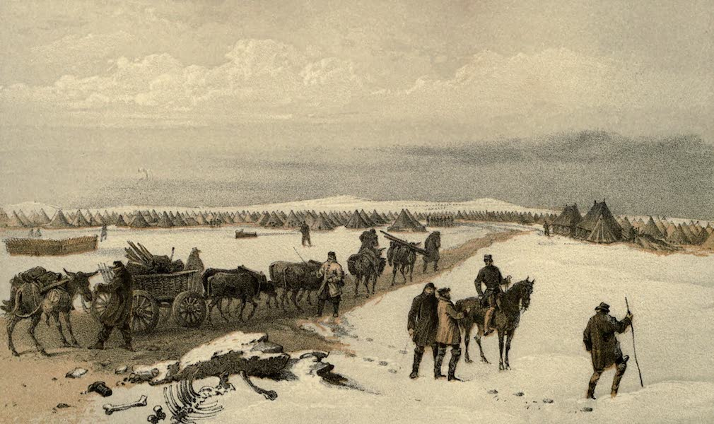 The Campaign in the Crimea [Series I] - Camp of the First Division, looking North towards the Camp of the Second Division : the Heights of Inkermann in the distance (1855)