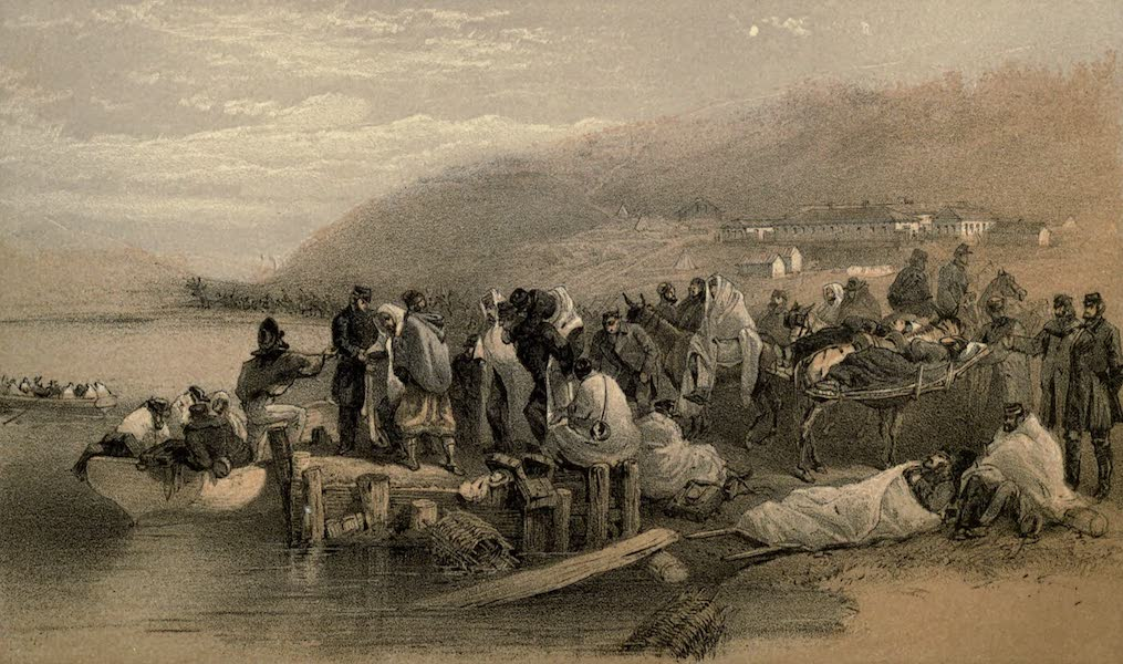 Embarkation of the Sick at Balaklava, looking South