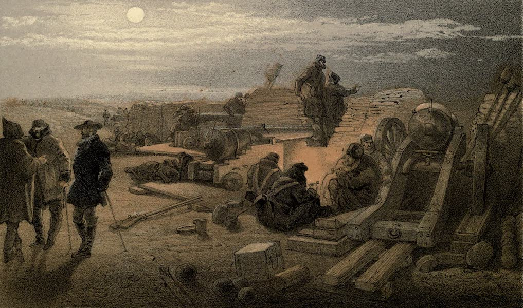 A Quiet Night in the Batteries. A Sketch in the Greenhill Battery (Major Chapman's), 29th January, 1855