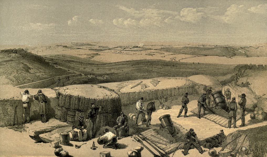 The Campaign in the Crimea [Series I] - The New Works at the Siege of Sebastopol on the Right Attack. From the Mortar Battery on the Right of Gordon's Battery (1855)