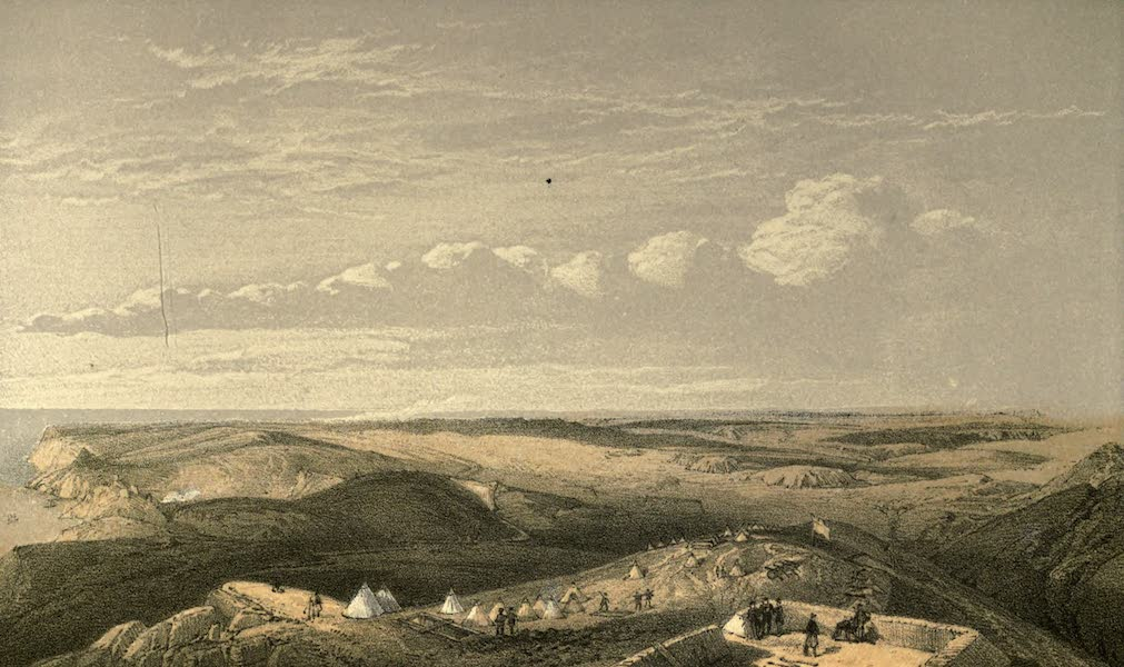 View from the Heights above Balaklava, looking towards Sebastopol. Showing the Ground of the Battles of the 25th October and of the 6th November, 1854, and the Line of our Defences since the 25th ofOctober