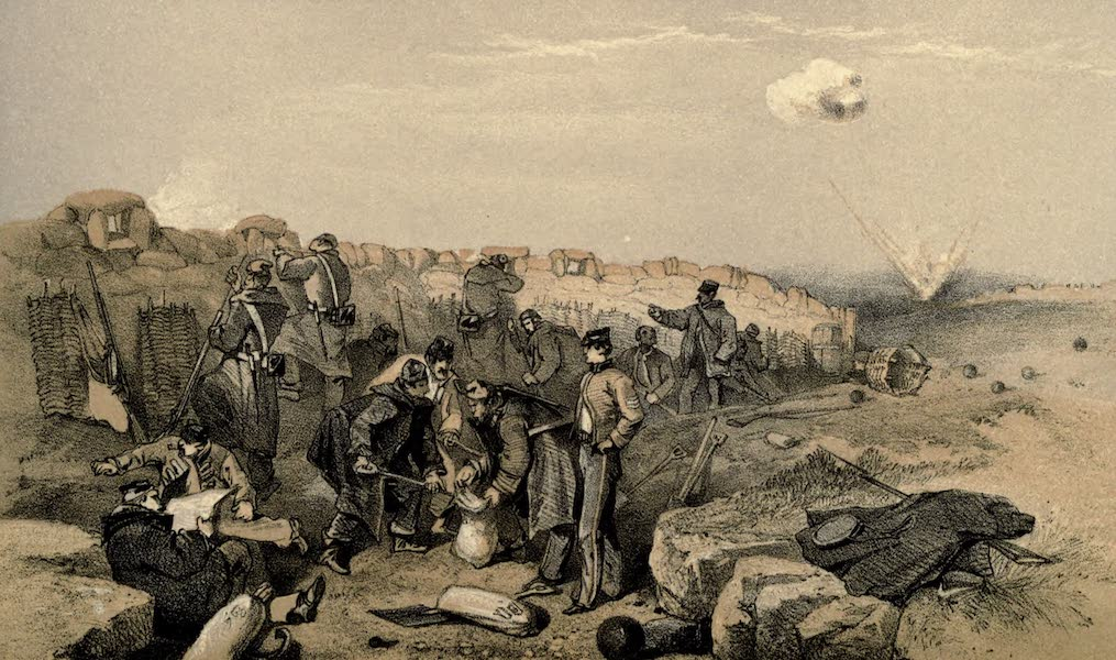 The Campaign in the Crimea [Series I] - Russian Rifle-Pit; now part of the British advanced Trenches, on the Left of the Right Attack, or Gordon's Battery (1855)