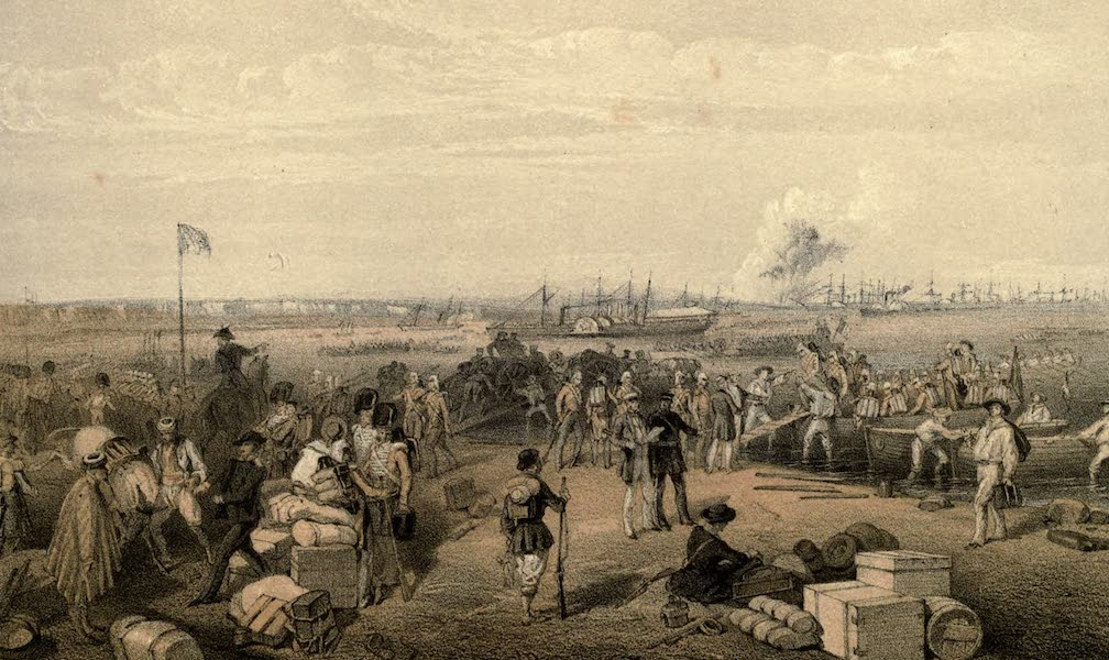 Disembarkation of the Expedition to Kertch at Kamish Burun, and the Blowing-up of St. Paul's Battery