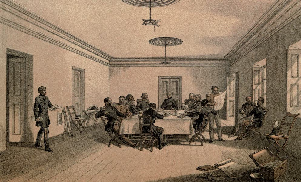 Interior of Lord Raglan's Head-Quarters. A Council of War