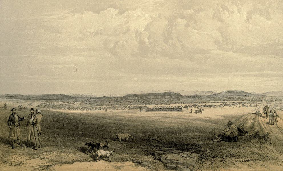The Campaign in the Crimea [Series II] - Camp of the Light Division from the Woronzoff Road (1856)