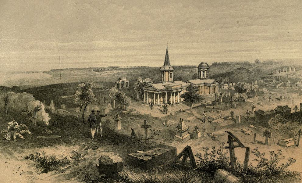 Quarantine Cemetery and Church, with French Battery No. 50