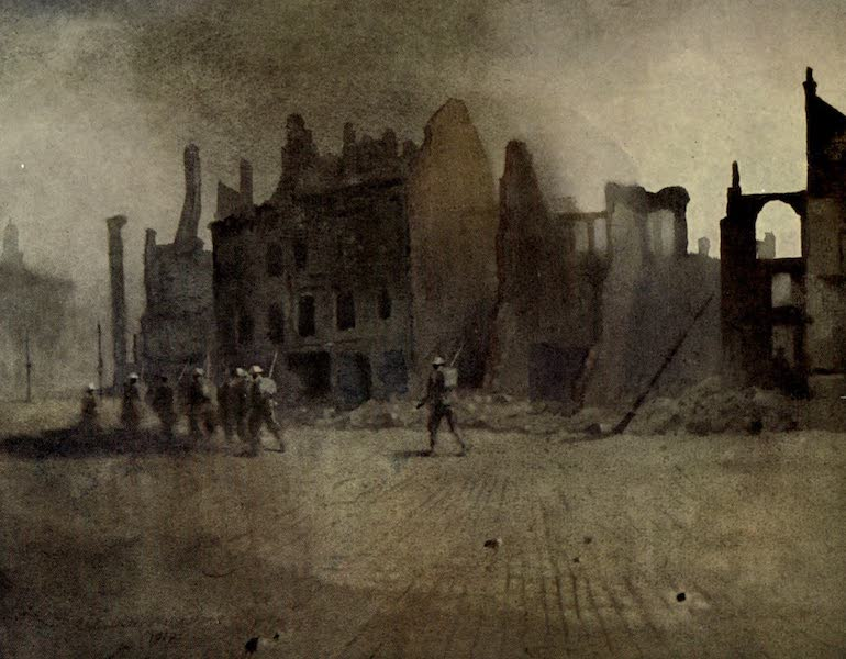 The Canadian Front in France and Flanders - Canadians entering Cambrai - The Grande Place (1920)