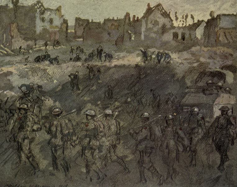 The Canadian Front in France and Flanders - Valenciennes - Mons Road, November 9, 1918 (1920)