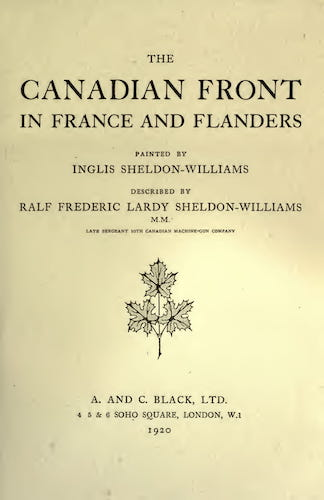 Great Britain - The Canadian Front in France and Flanders