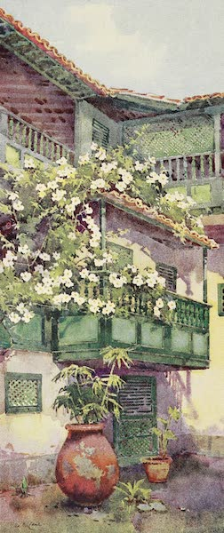 The Canary Islands, Painted and Described - A Patio (1911)