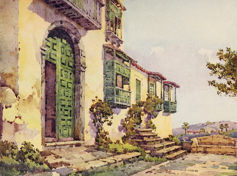 The Canary Islands, Painted and Described - Convent of Sant Augustin, Icod de los Vinos (1911)