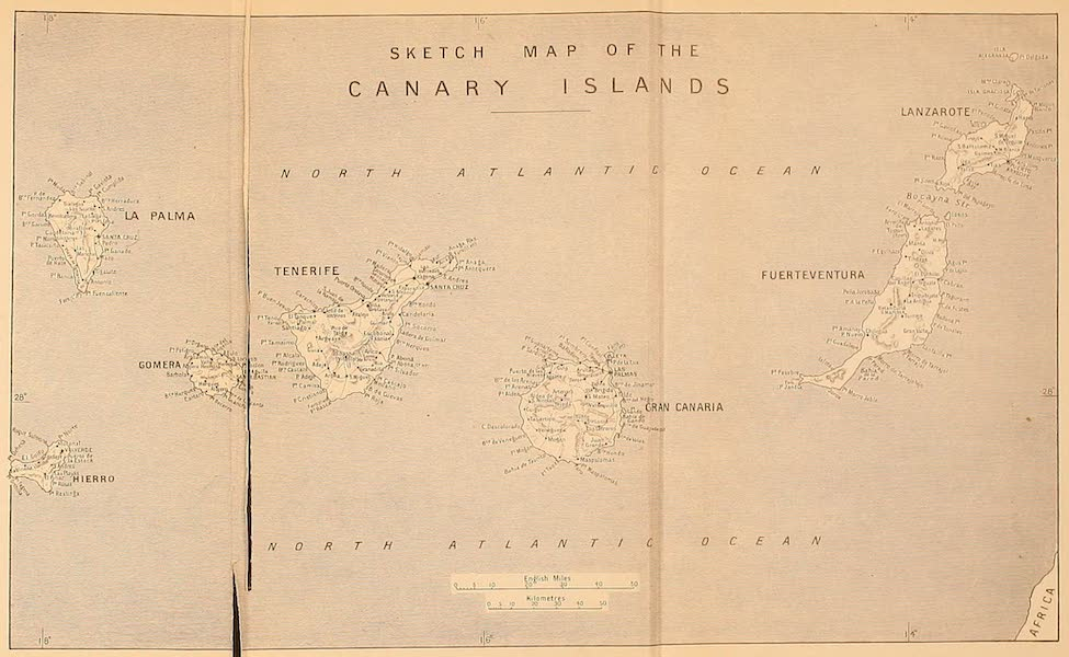 The Canary Islands, Painted and Described - Sketch Map of the Canary Islands (1911)