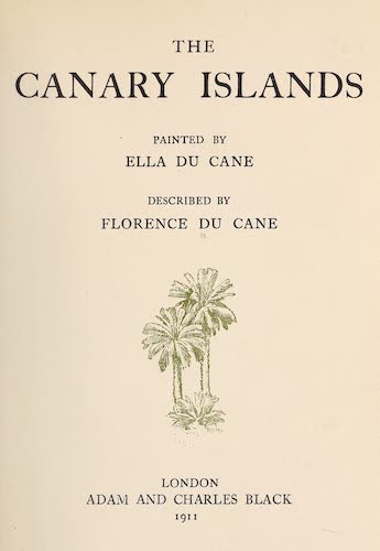 Chromolithography - The Canary Islands, Painted and Described