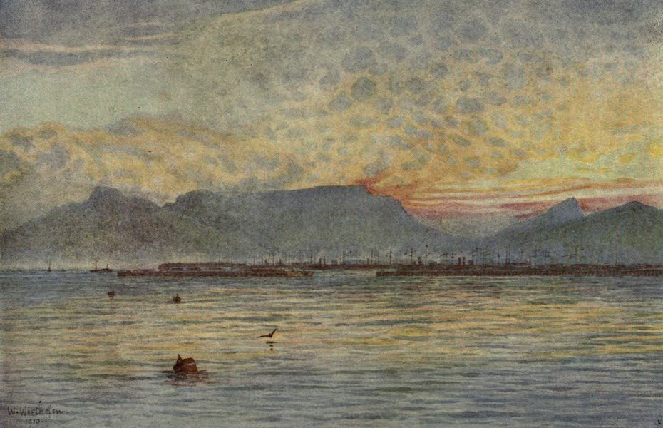 The Cape Peninsula: Pen and Colour Sketches - Cape Town from Table Bay (1910)