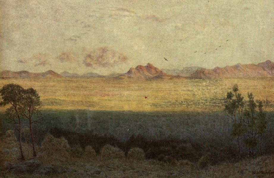 The Cape Peninsula: Pen and Colour Sketches - The Blue Shadow - View from Rhode's Monument (1910)