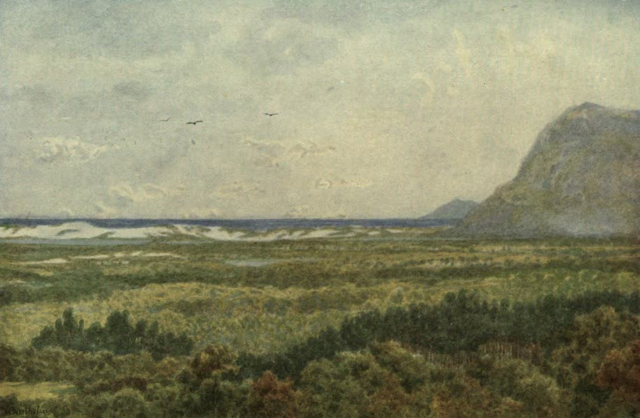 The Cape Peninsula: Pen and Colour Sketches - Constantia Valley and False Bay, with Cape Point (1910)