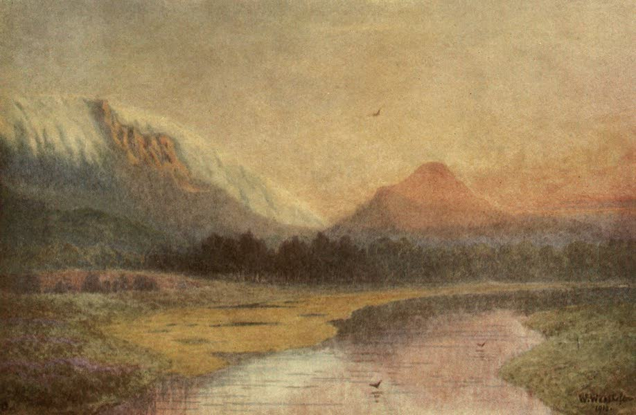 The Cape Peninsula: Pen and Colour Sketches - A Sunset on the Lion's Head : Effect of South-east Wind (1910)