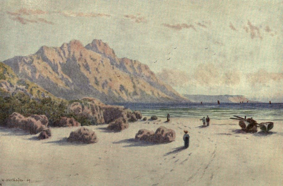 The Cape Peninsula: Pen and Colour Sketches - Chapman's Peak and Slang Kop Point from Hout Bay (1910)